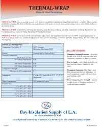 Bay Insulation Supply Thermal-Wrap Mineral Wool Pipe and Tank Wrap.pdf